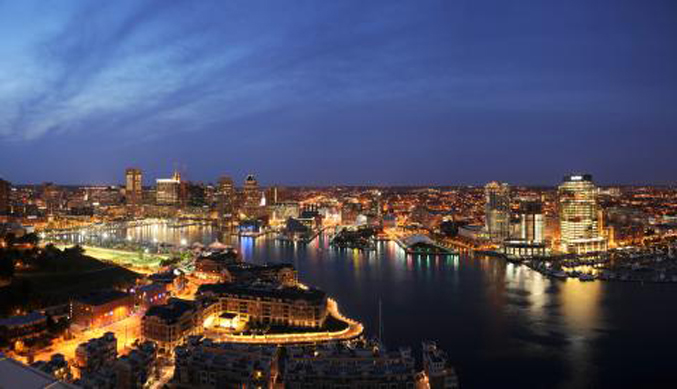 Baltimore Skyline Nighttime